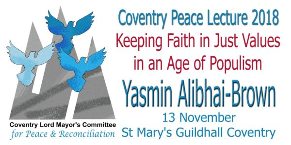 Coventry Peace Lecture 2018